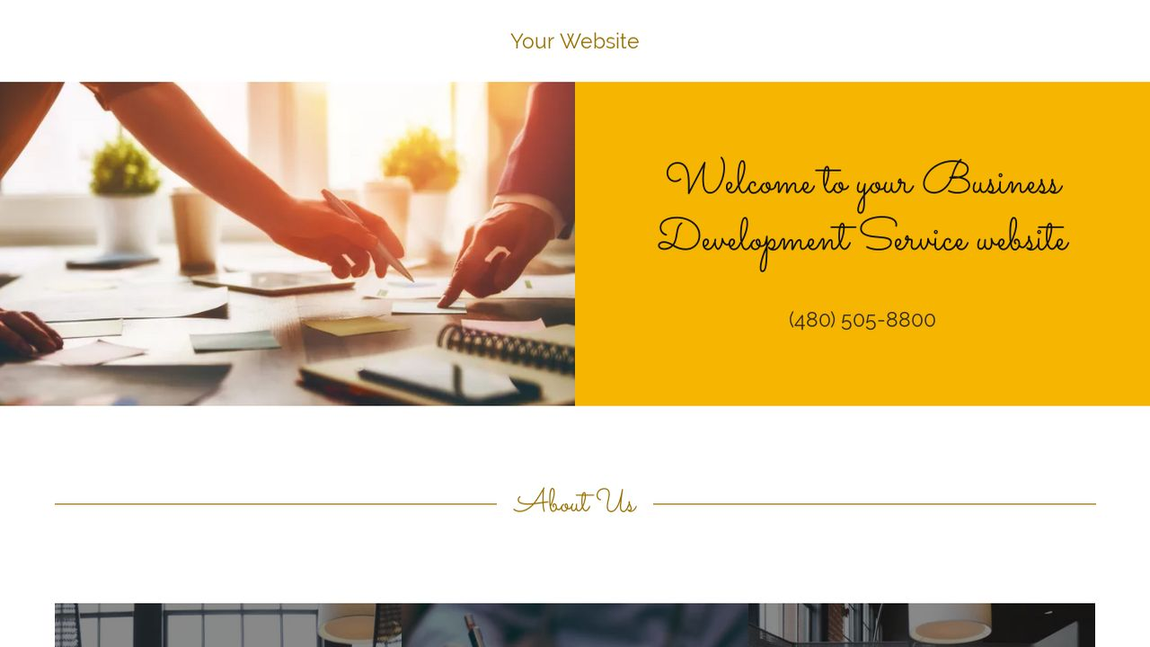 Business Development Service Website: Example 4