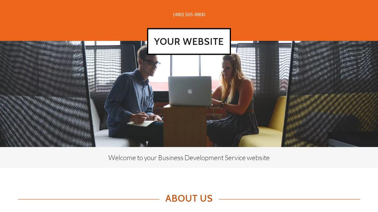 Business Development Service Website: Example 6