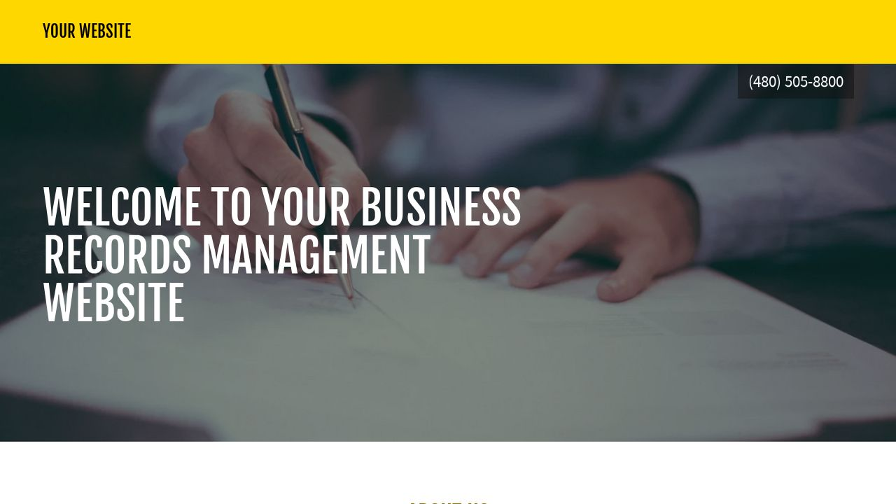 Business Records Management Website Templates | GoDaddy