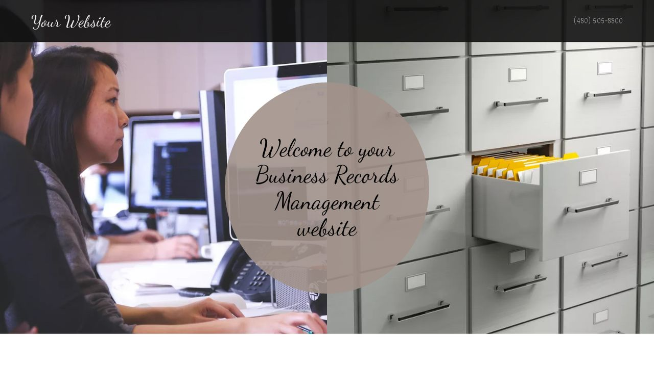 Business Records Management Website: Example 11