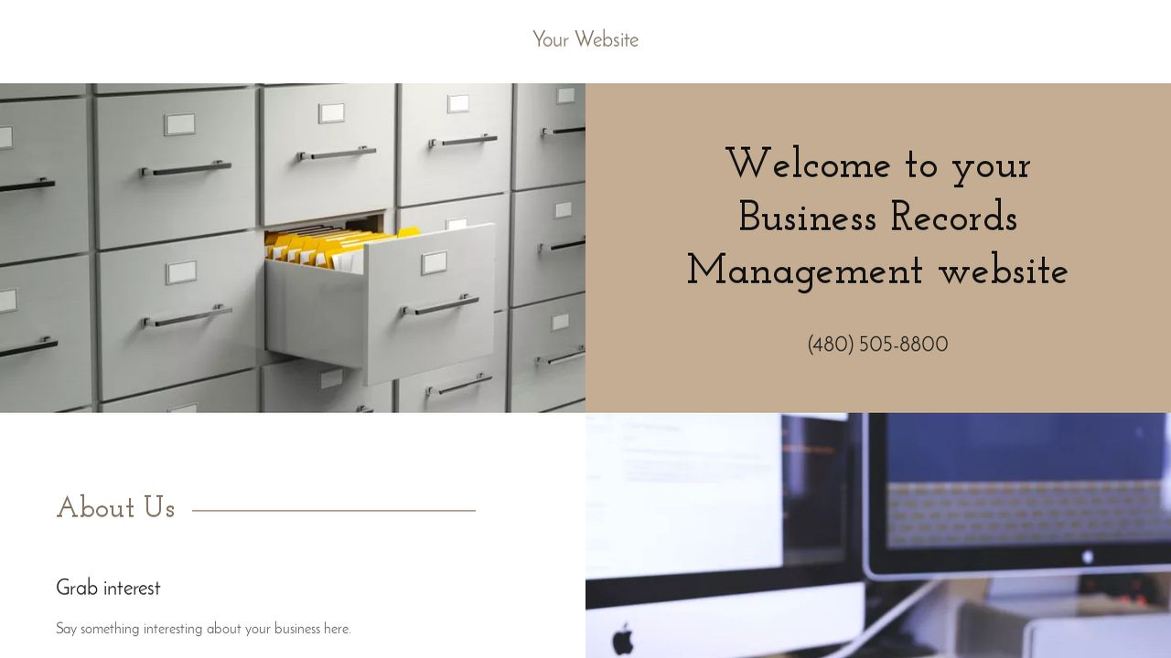 Business Records Management Website: Example 14