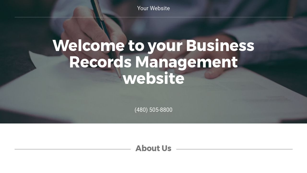Business Records Management Website: Example 15