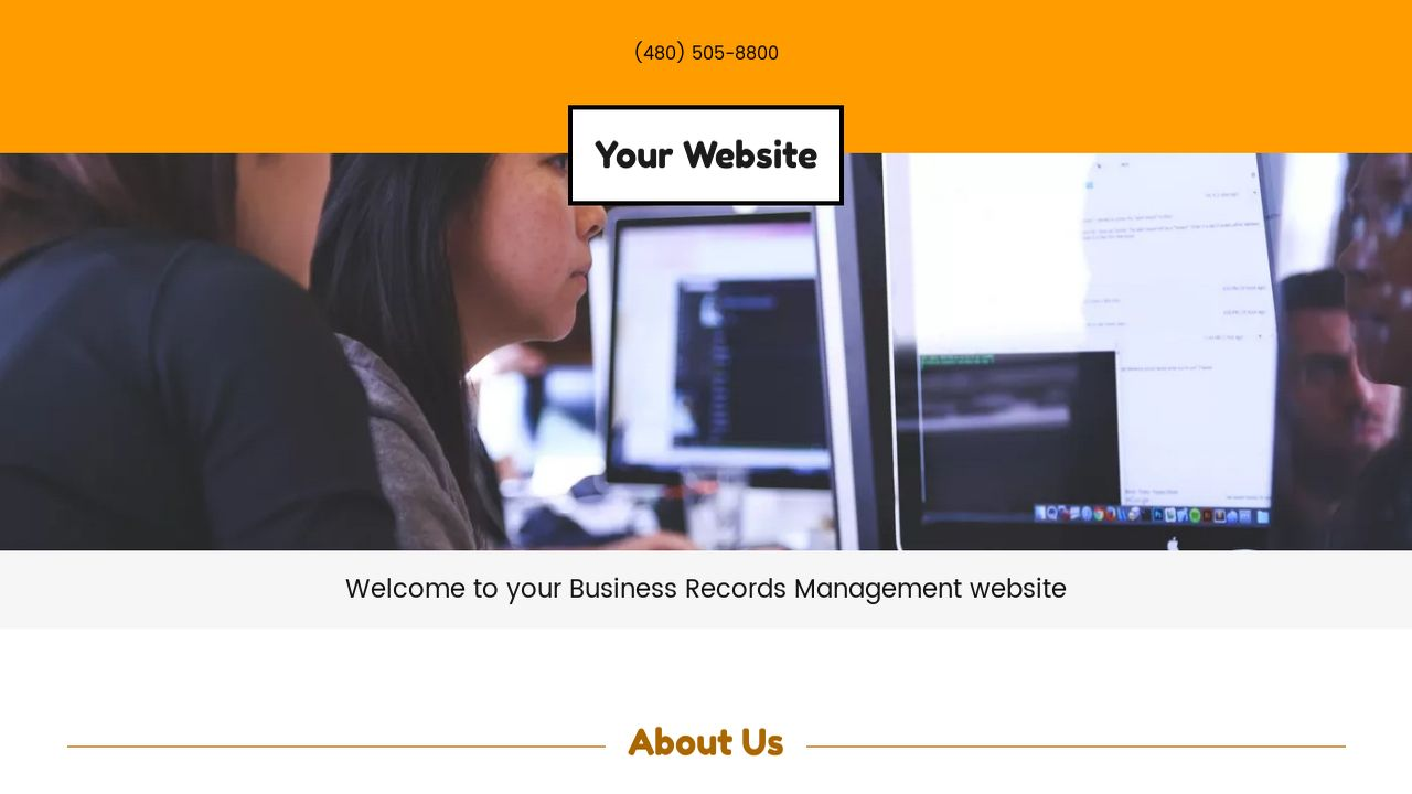 Business Records Management Website: Example 16