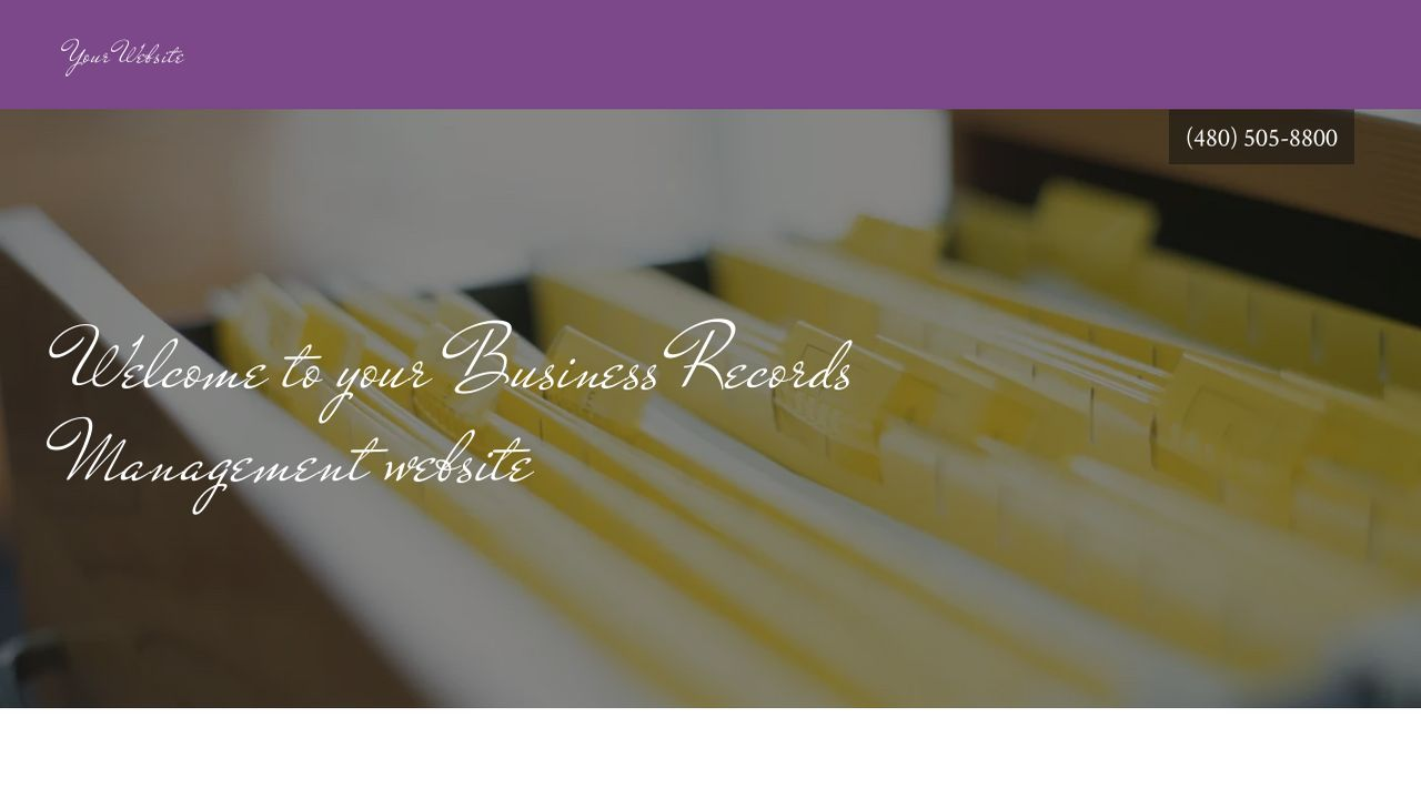 Business Records Management Website: Example 17