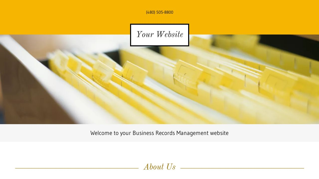 Business Records Management Website: Example 2
