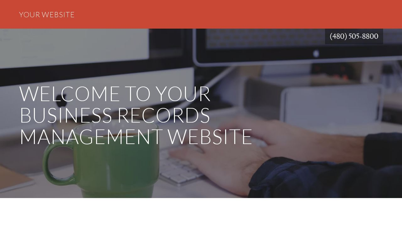 Business Records Management Website: Example 3