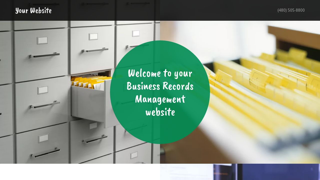 Business Records Management Website: Example 4