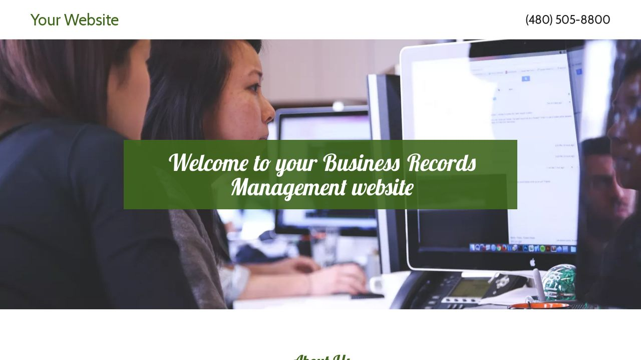 Business Records Management Website: Example 6