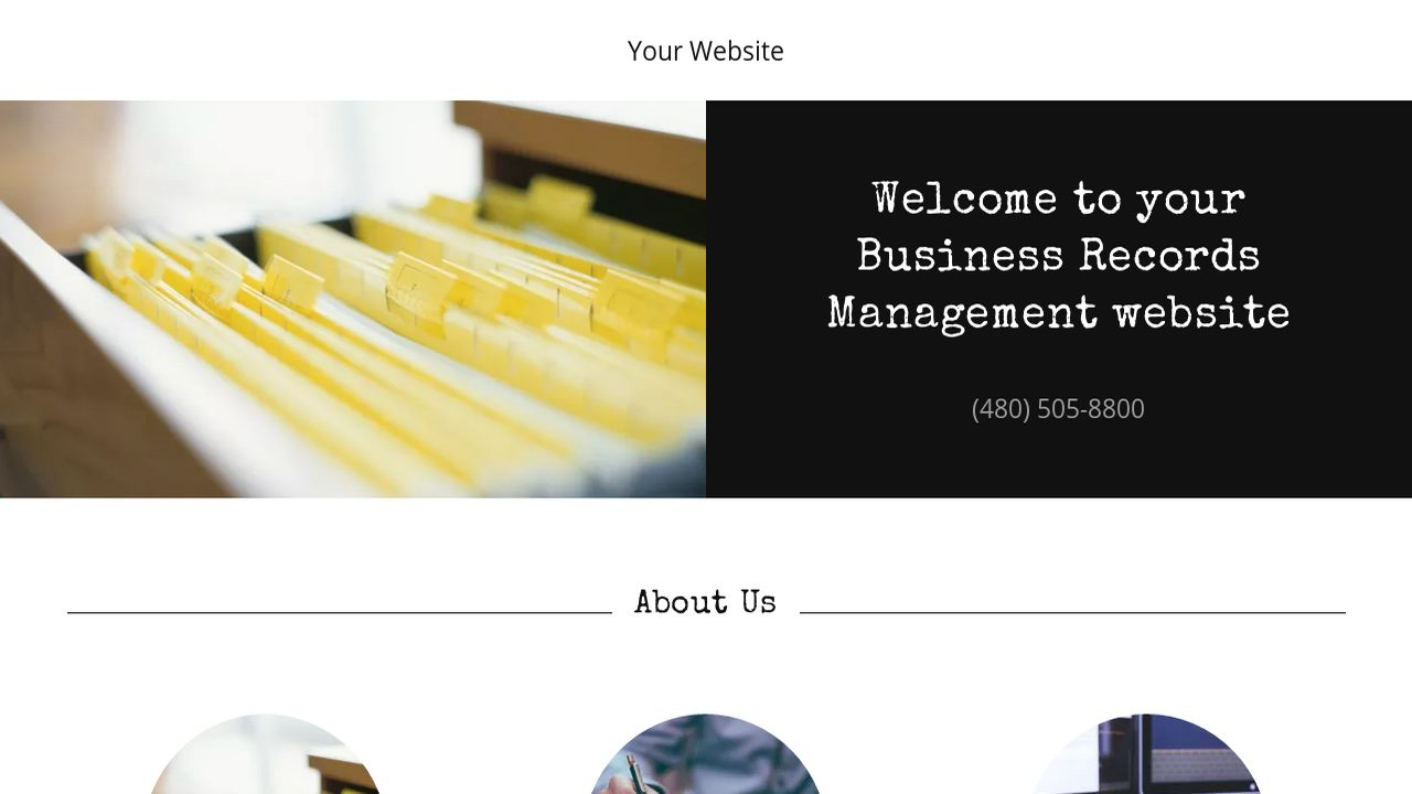 Business Records Management Website: Example 7