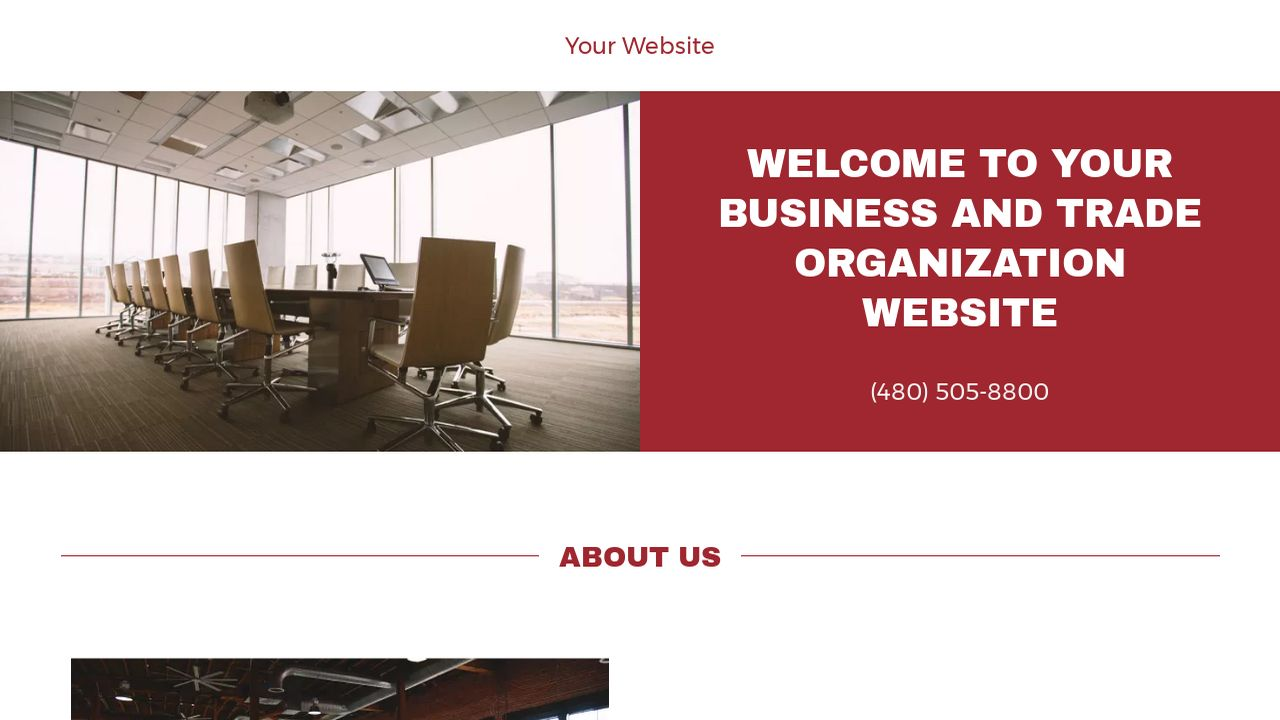 Business and Trade Organization Website: Example 11