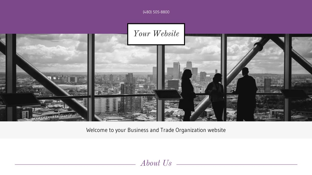 Business and Trade Organization Website: Example 15