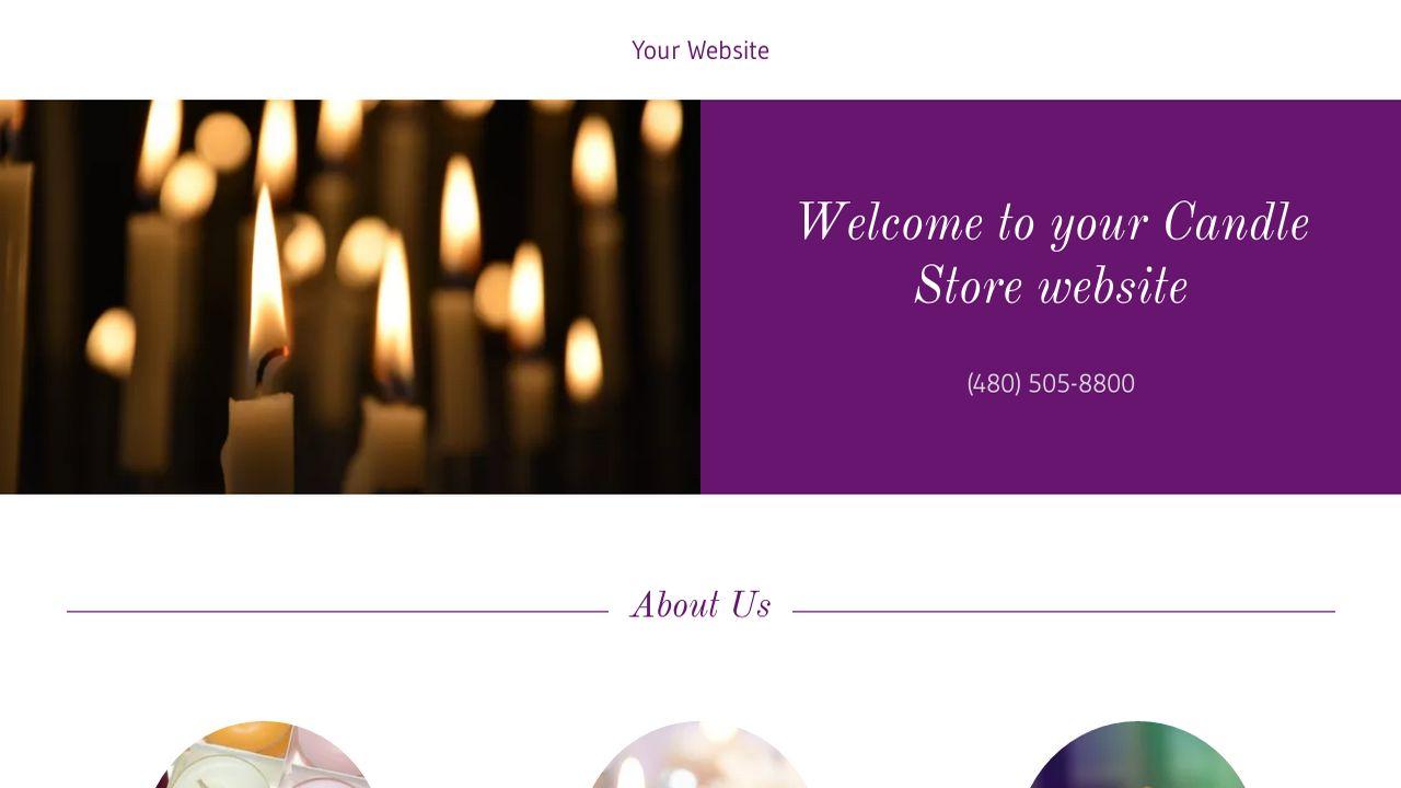 candle store website templates godaddy. Black Bedroom Furniture Sets. Home Design Ideas