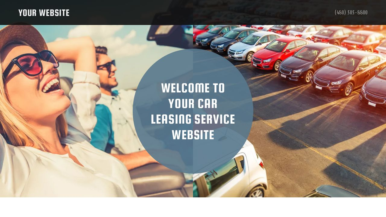 Car Leasing Service Website Templates Godaddy
