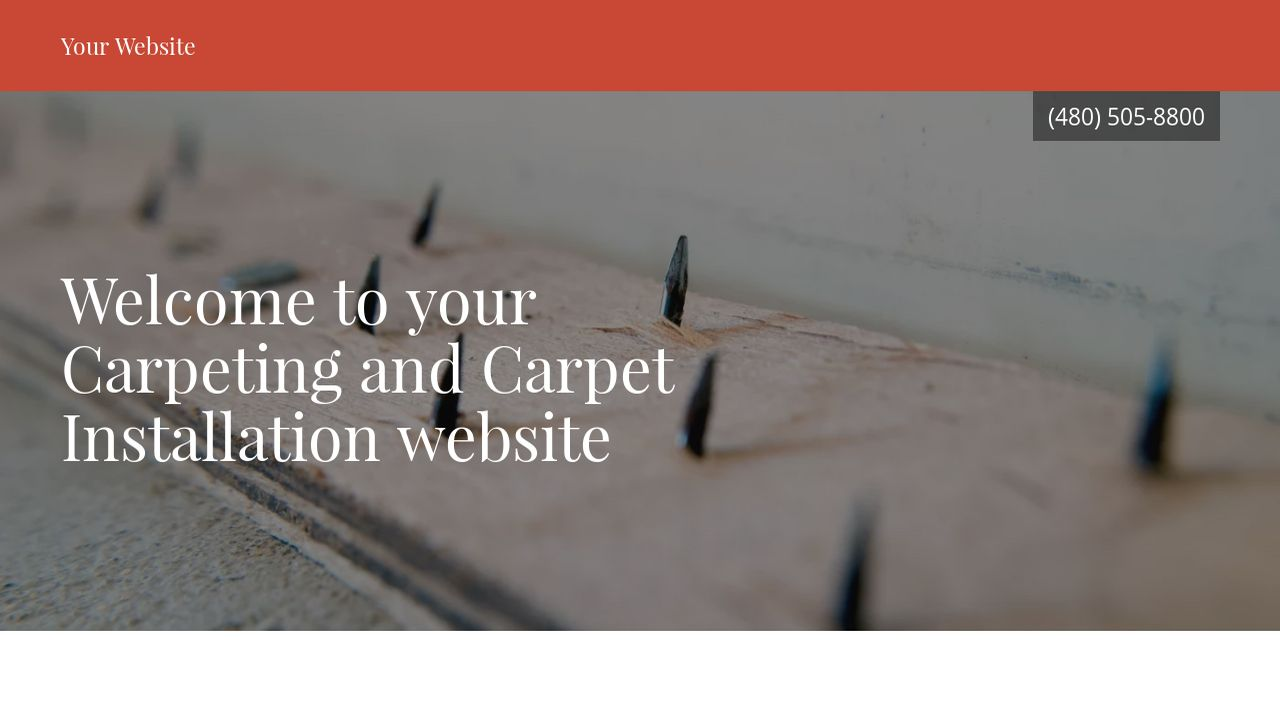 Carpeting and Carpet Installation Website: Example 10