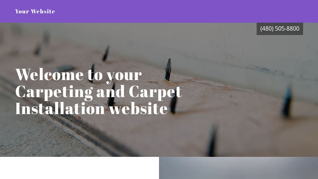 Carpeting and Carpet Installation Website: Example 17
