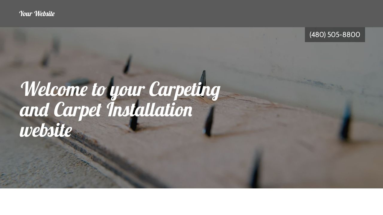 Carpeting and Carpet Installation Website: Example 3