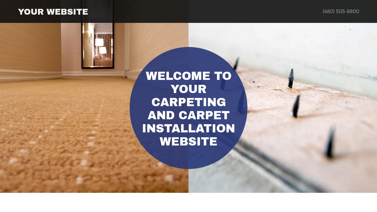 Carpeting and Carpet Installation Website: Example 5