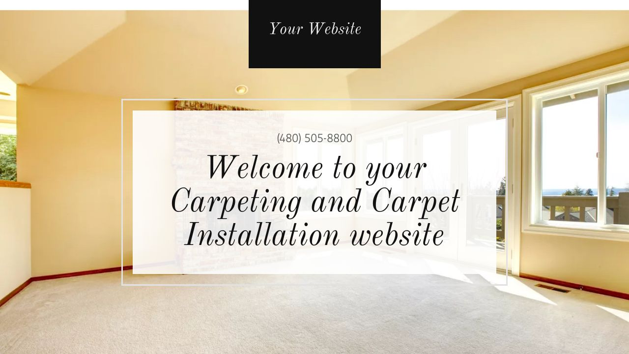 Carpeting and Carpet Installation Website: Example 6