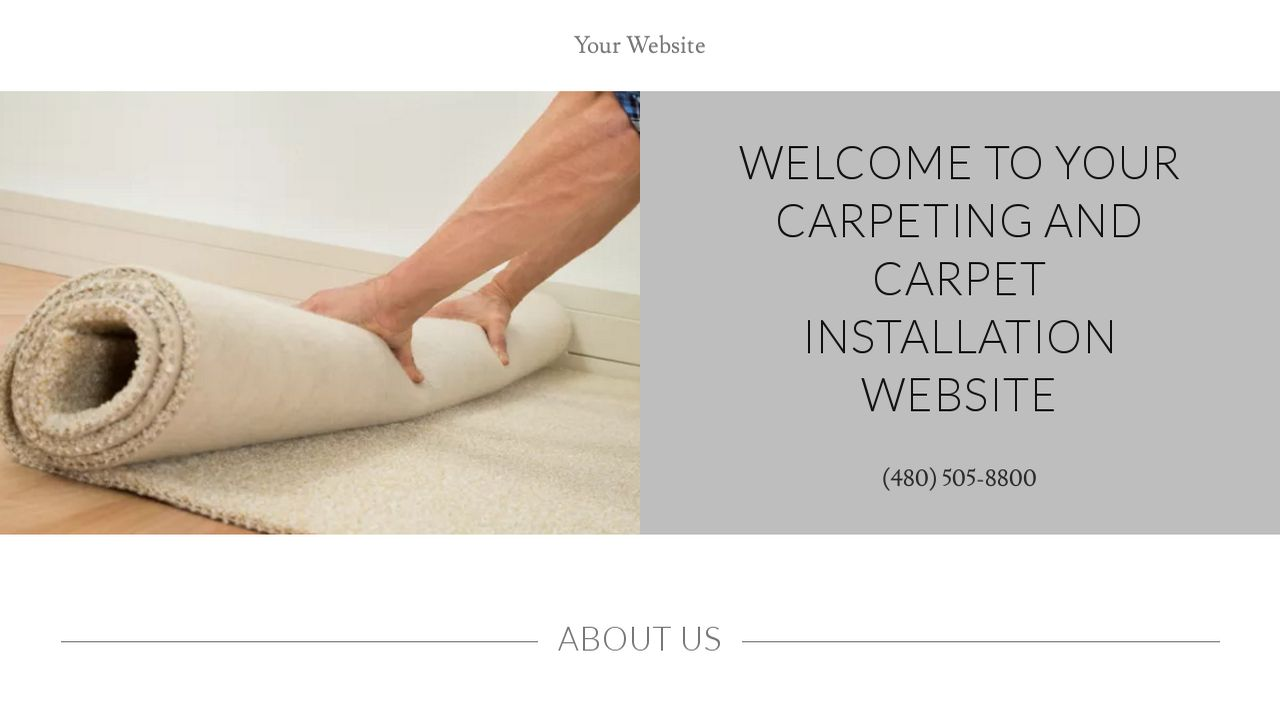 Carpeting and Carpet Installation Website: Example 8
