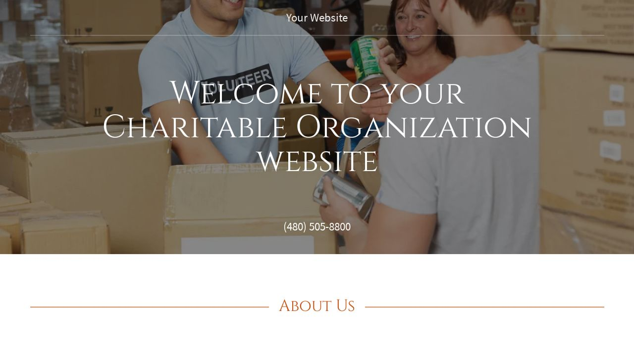 Charitable Organization Website: Example 14