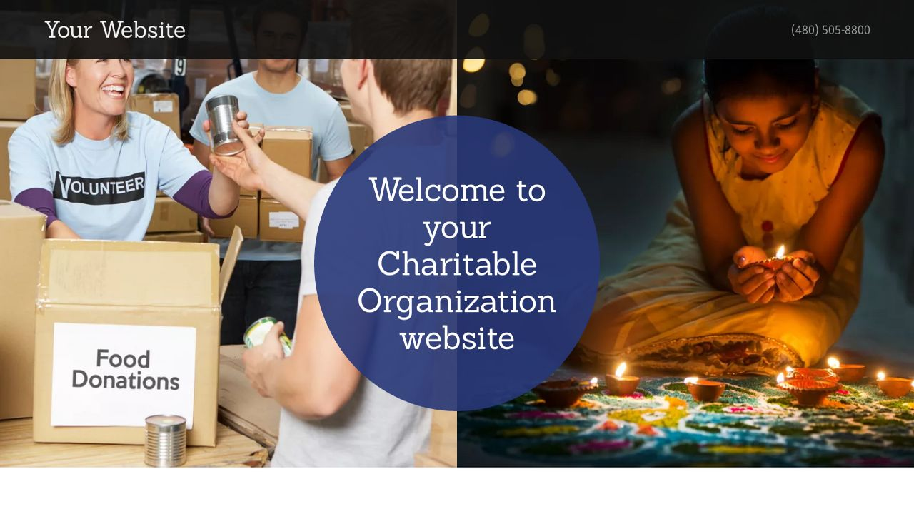 Charitable Organization Website: Example 16