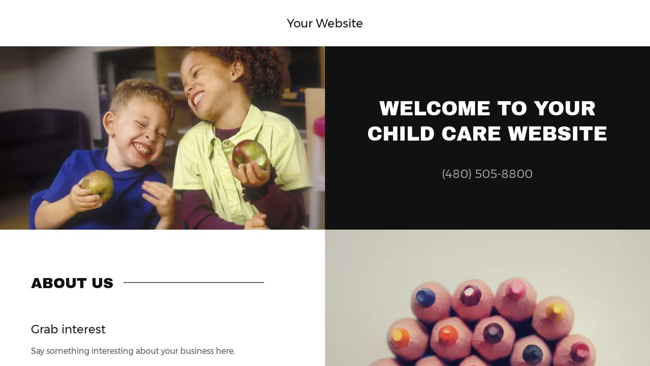 Child Care Website: Example 10