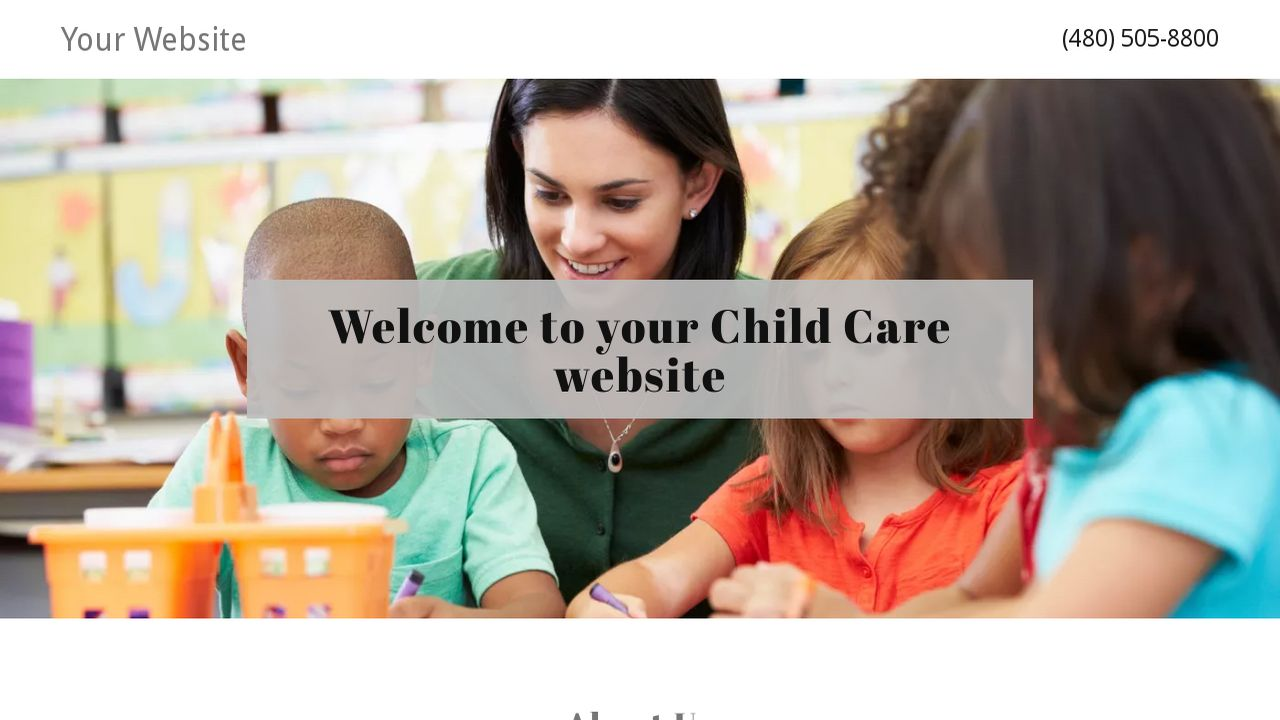 Child Care Website: Example 11