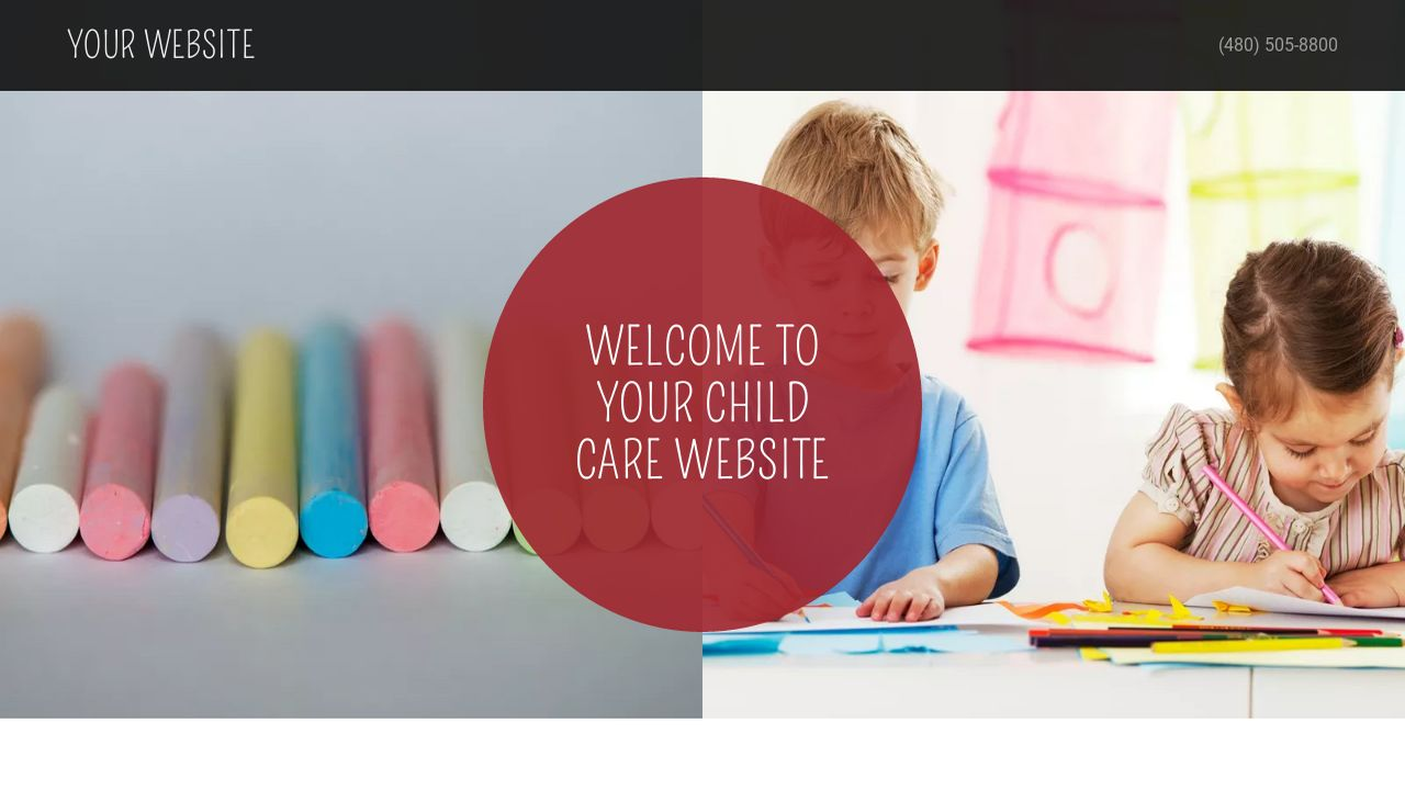 Child Care Website: Example 12