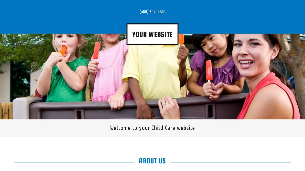 Child Care Website: Example 13