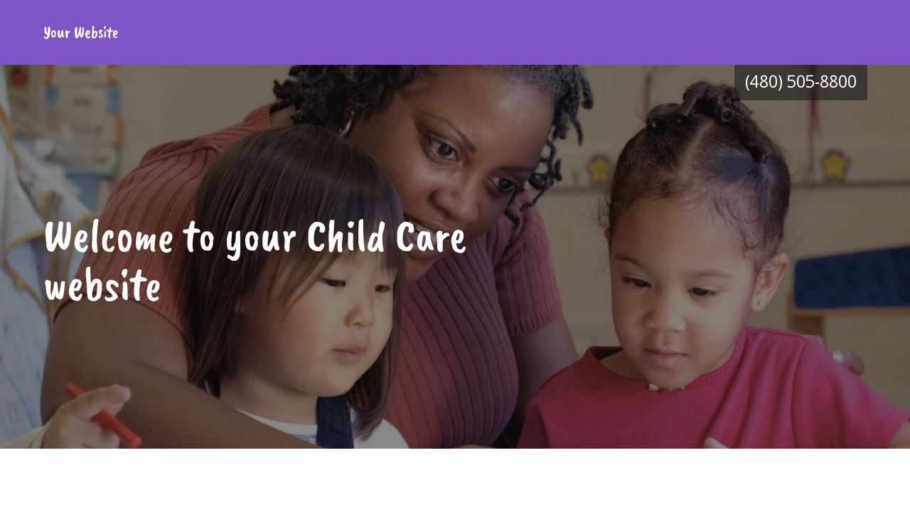 Child Care Website: Example 14