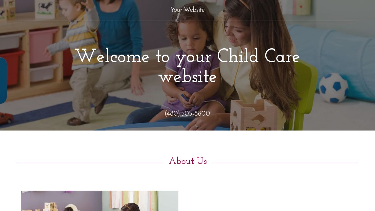 Child Care Website: Example 16