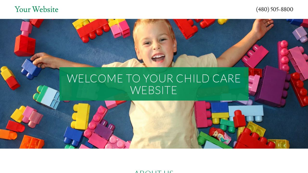Child Care Website: Example 18