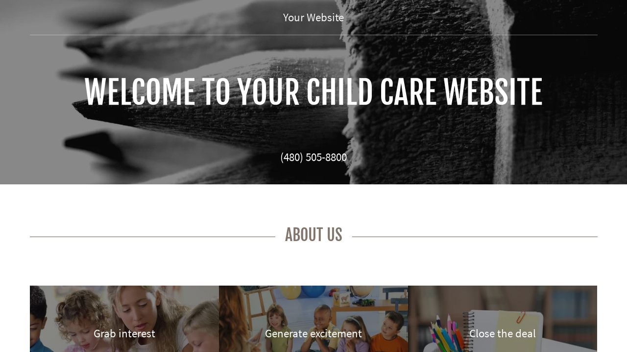 Child Care Website: Example 2