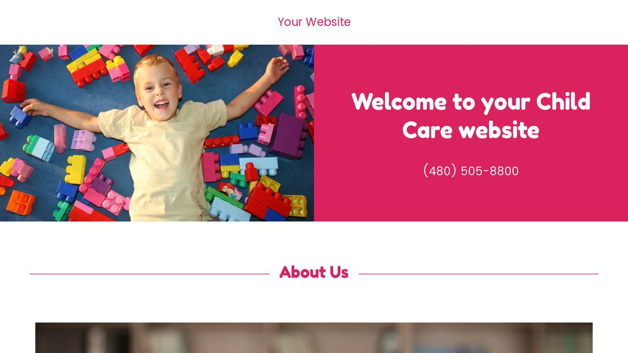 Child Care Website: Example 3