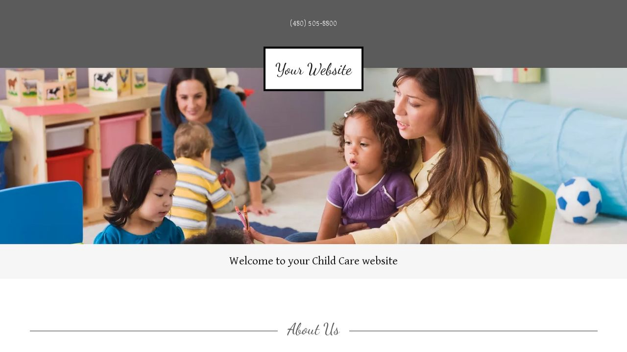 Child Care Website: Example 6