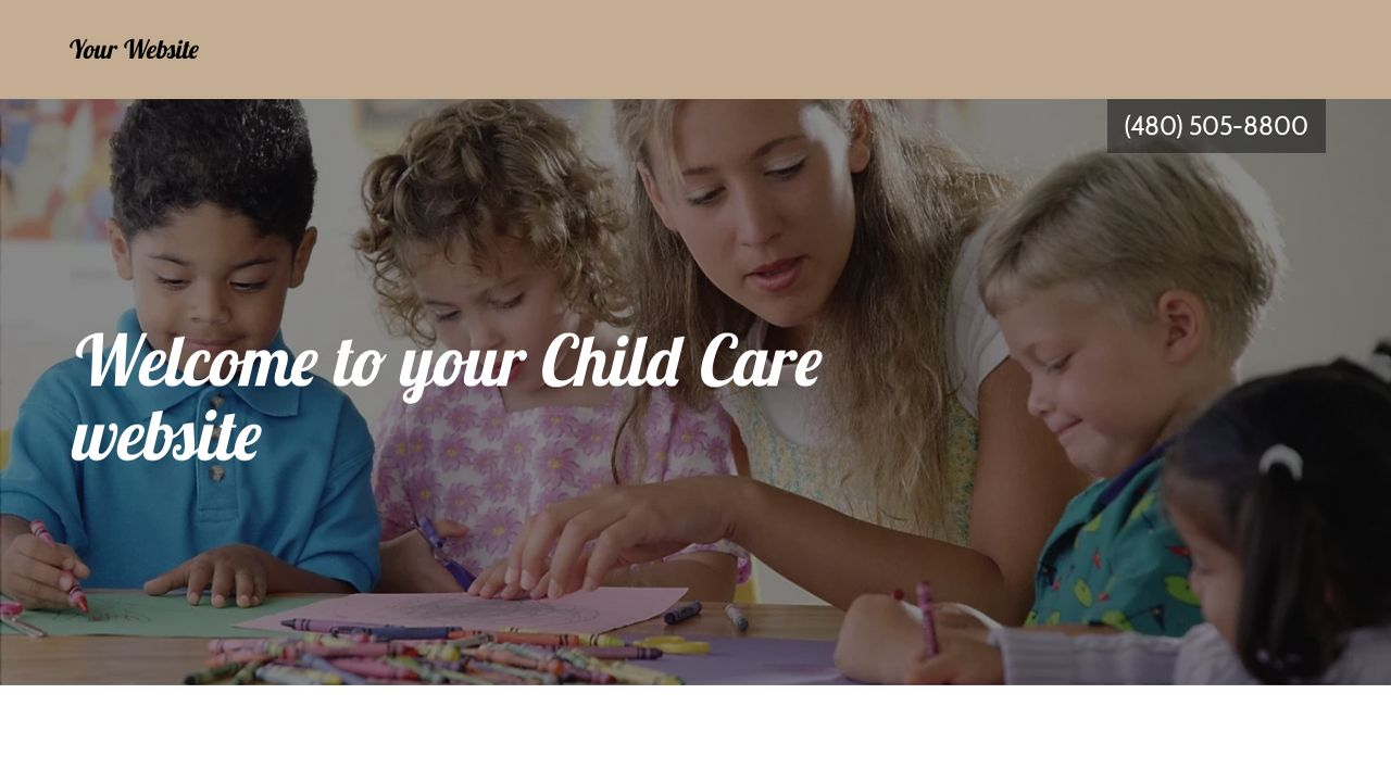 Child Care Website: Example 7