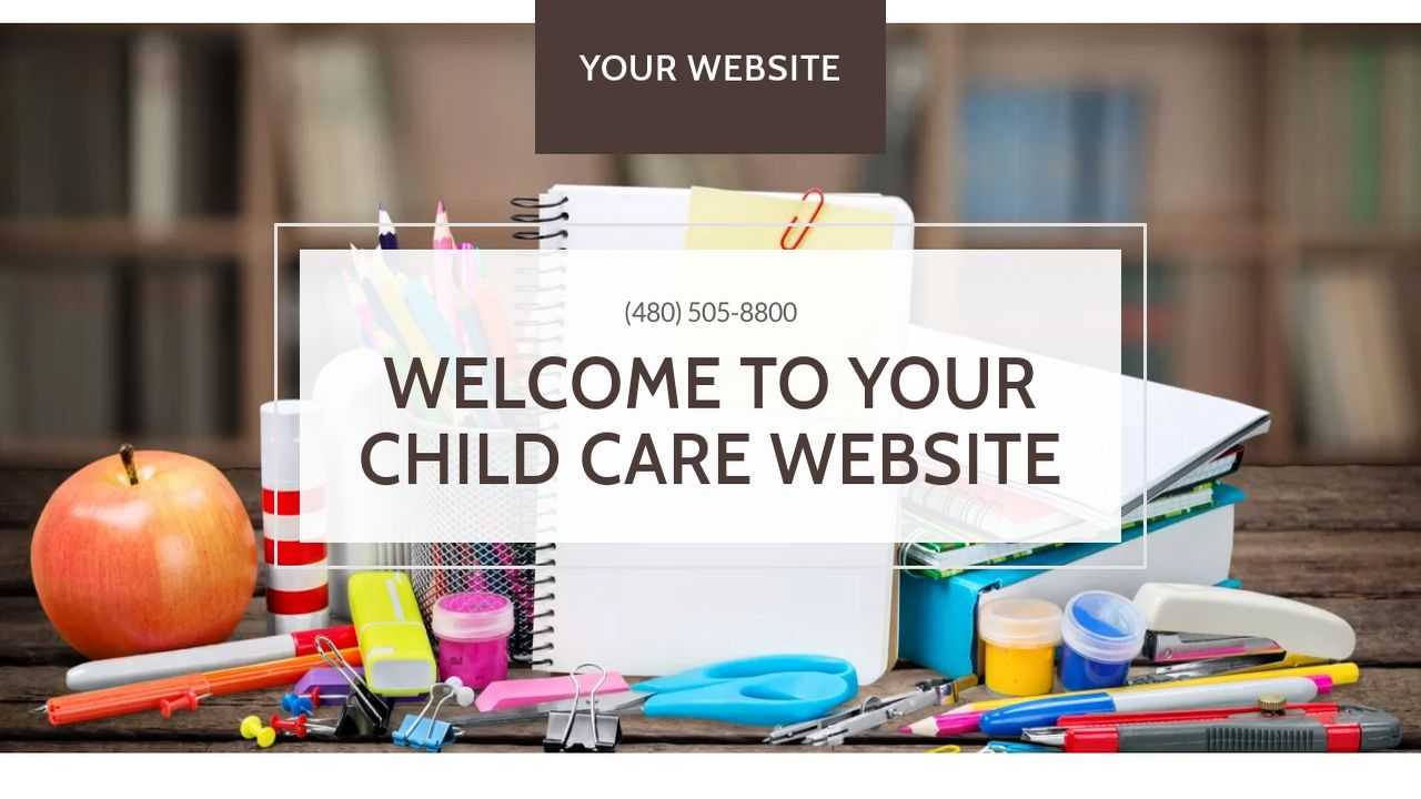 Child Care Website: Example 8