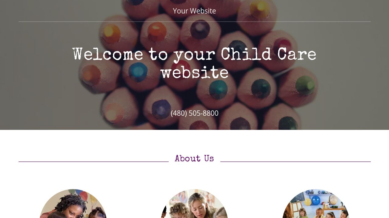 Child Care Website: Example 9