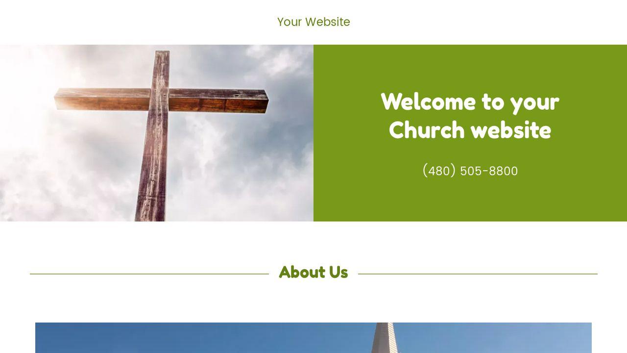 Church Website Templates Godaddy