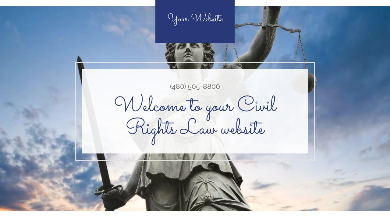 civil rights law website templates