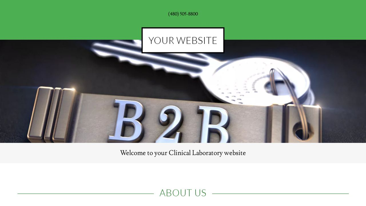 Clinical Laboratory Website Templates | GoDaddy