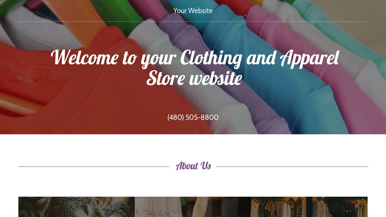 Clothing and Apparel Store Website: Example 1