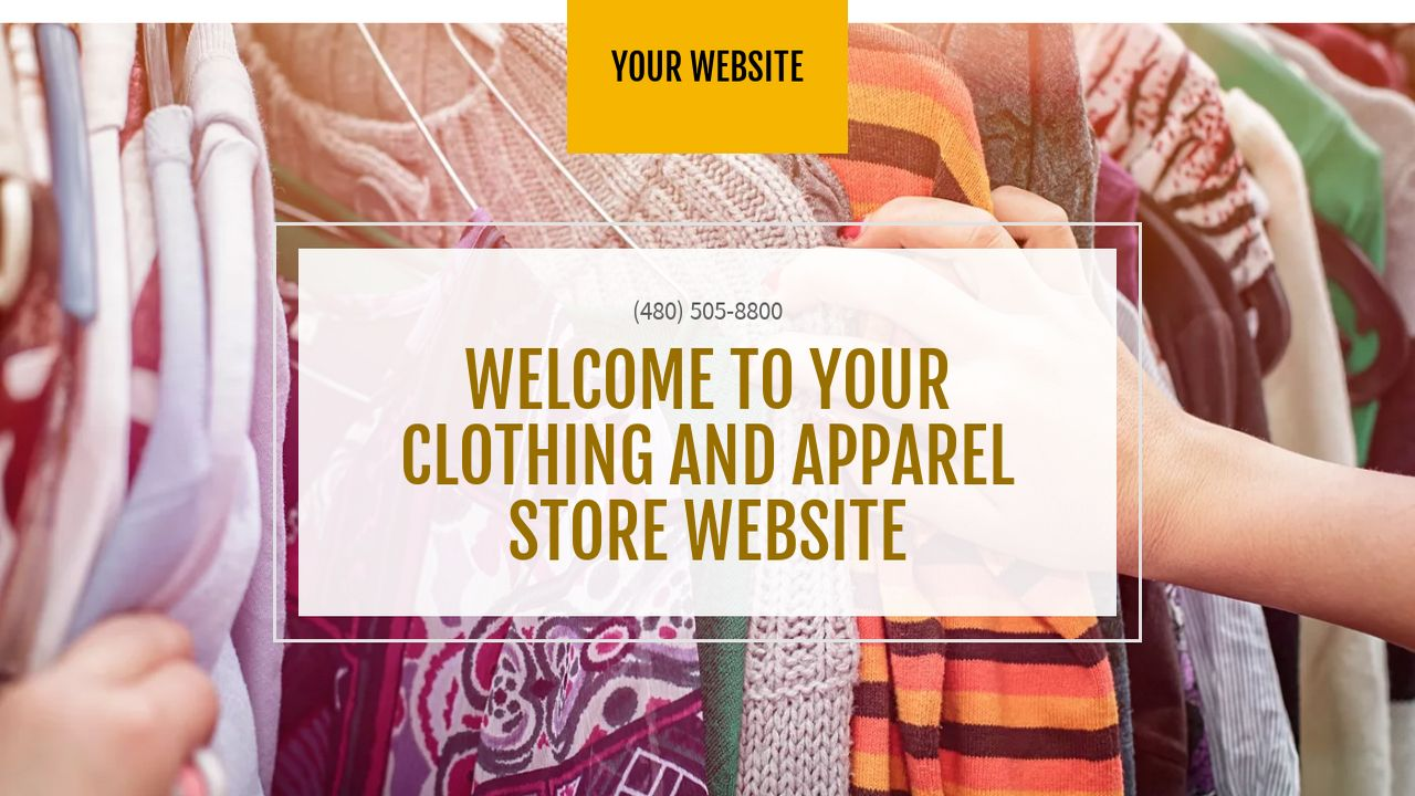 Clothing and Apparel Store Website: Example 10