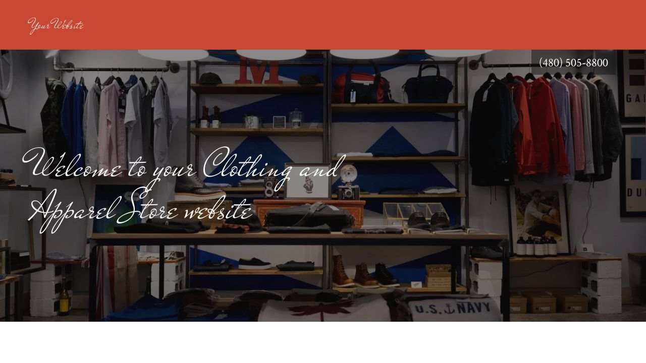 Clothing and Apparel Store Website: Example 11
