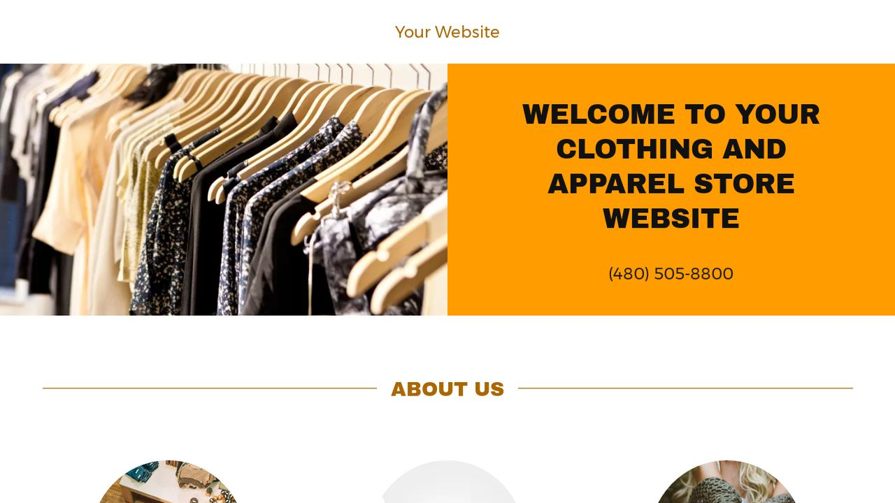 Clothing and Apparel Store Website: Example 12