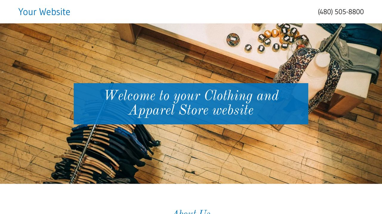 Clothing and Apparel Store Website: Example 13