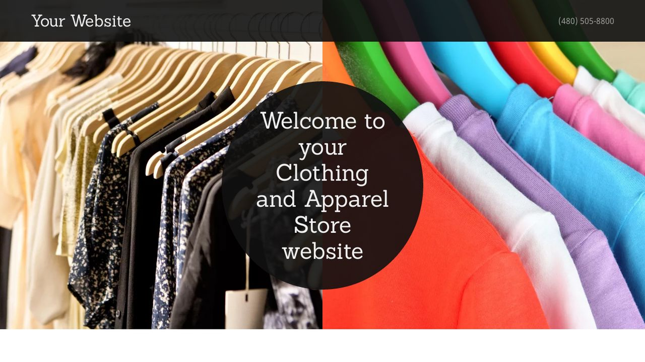 Clothing and Apparel Store Website: Example 14