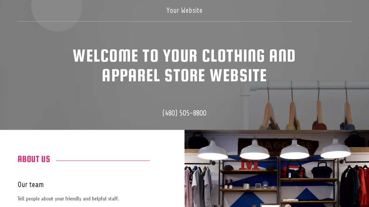 Clothing and Apparel Store Website: Example 15