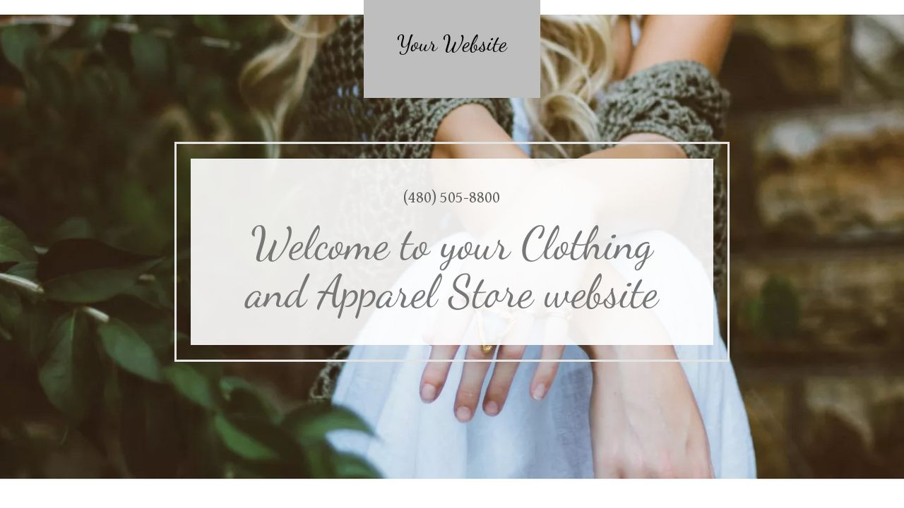 Clothing and Apparel Store Website: Example 17