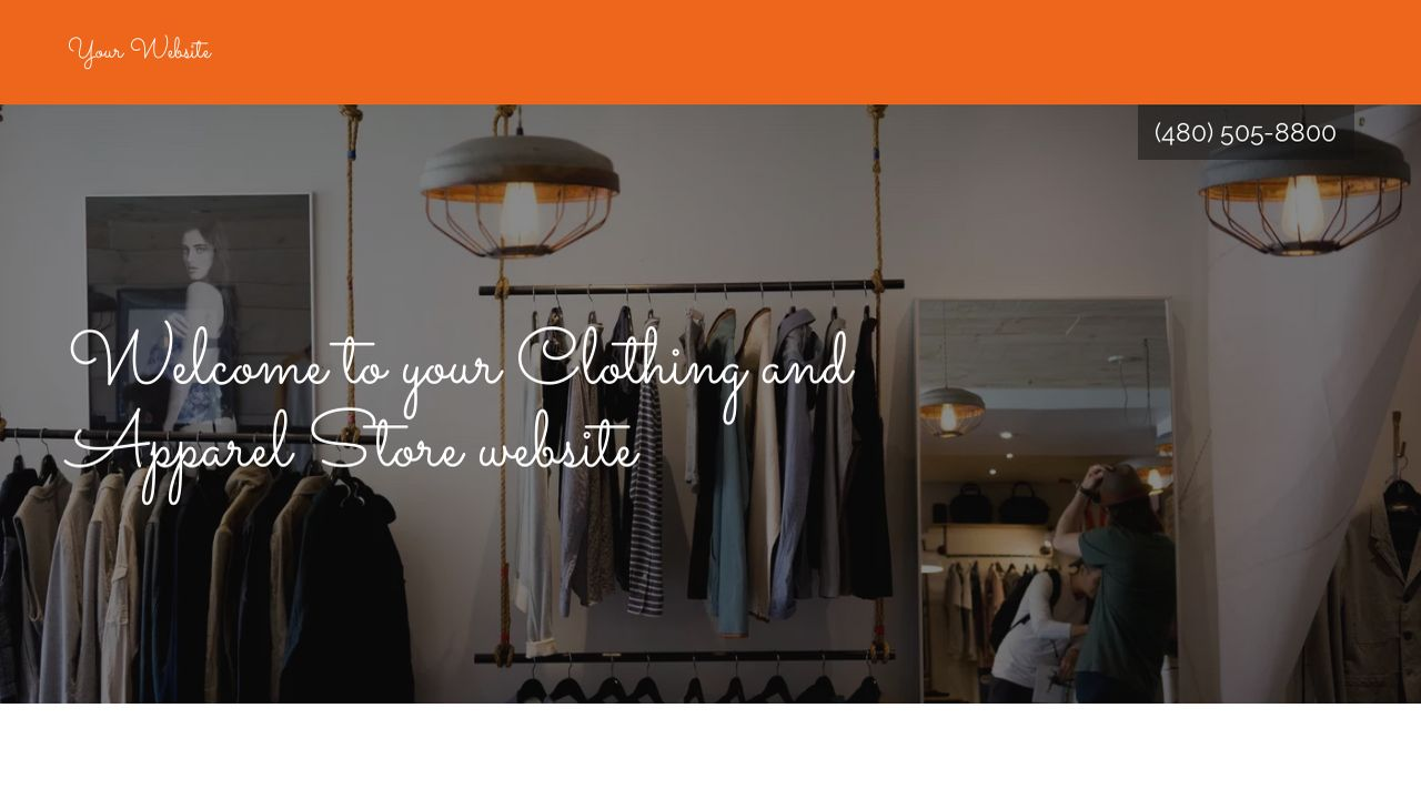 Etiquette clothing store website